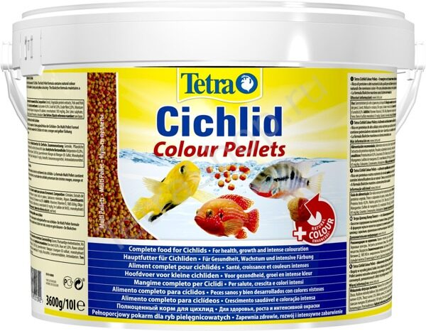 Корм Tetra Cichlid Colour Pellets 10 л (3,6 кг)